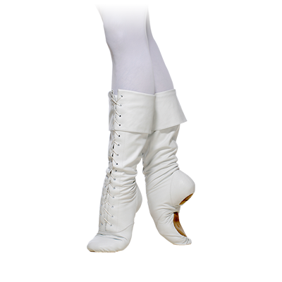 03225 Lace-up Ballet Boots with Foldover